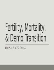 Mortality & Demo Transition ST
