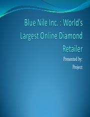 Blue Nile Inc Presentation Project MGT 570