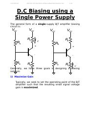DC Biasing using a Single Power Supply.doc