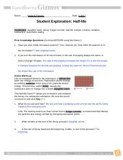 Gizmo Half Life Lab Answer Key + My PDF Collection 2021