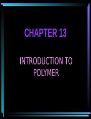 Student_Chapter 13 Introduction to polymer