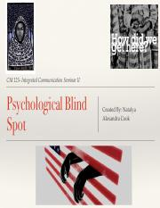 Psychological blind spot cm 125