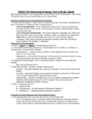 OEAS 112 Historical Geology Test 3 Study Guide 2012