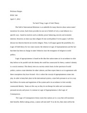 Paper #3: Logic of Faith Theory