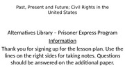 Lesson plan for Civil Rights