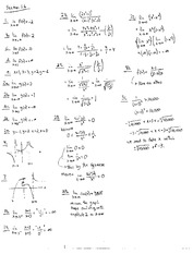 Homework D Solutions on Calculus and Analytic Geometry