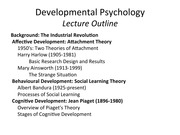 Developmental Psychology: Lecture Notes