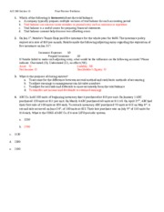 Final review problems-answer key