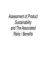 Product Sustainability and Risk - Benefit Assessment.pdf