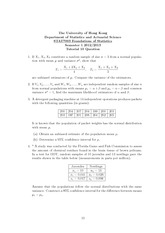 STAT7003 Tutorial 10 Question