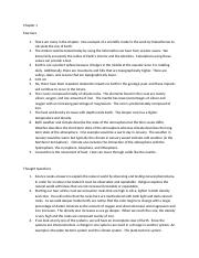 Answers to Chapter Exercises - Chapter 01