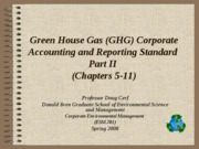 Green house gas accounting and reporting part 2