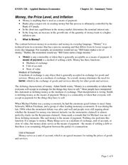 Chapter 24 - Summary Notes