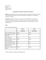 Decomposition Lab Report