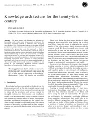 006 Knowledge architecture for the twenty-first century