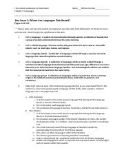 Chapter 5 Rubenstein Key Issue Questions