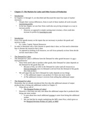 Econ 201: Factors of Production Notes