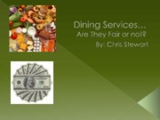 Dining Services powerpoint