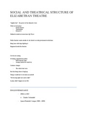 10-29 SOCIAL AND THEATRICAL STRUCTURE OF ELIZABETHAN THEATRE