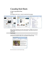 webpages and CSS layout