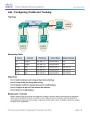 3.2.2.5 Lab - Configuring VLANs and Trunking-mbrown