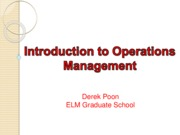 1c-Introduction to Operations Management