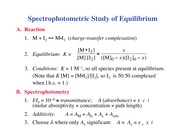 Chemistry 236_Lecture Notes on Spectrophotometric Study of Equilibrium