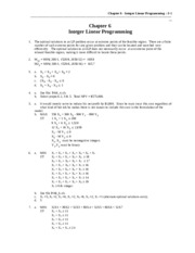 Ch 06 Integer Linear Programming