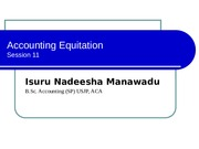 Accounting Equiation - Session 11