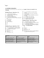 Academic READING ANSWERS docx - 0 READING INDEX S no 1 2 3 4 5 6 7 8