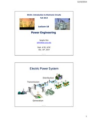 Lecture 18 - Power Engineering