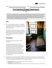 STANFORD PRISON EXPERIMENT - STANFORD PRISON EXPERIMENT