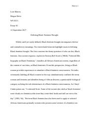Defining Black Feminist Thought Essay.docx