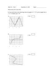 Calc1 old exam