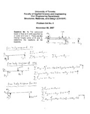 Solutions to Problem Set No 8