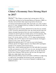 China's Economy Sees Strong Start to 2017.docx