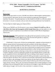 GEOG 1HB3 - Fall2015 - HW #13 - Globalization - Responses & Answers