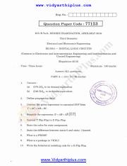 Digital logic Circuits May June 2015 Question Paper