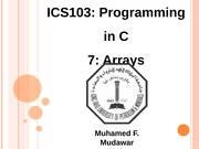 133ICS103_07_Arrays