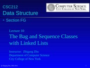 Lecture10-LinkedListBags