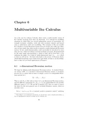 lecture 6 on Mathematichal Methods for financial Engineering
