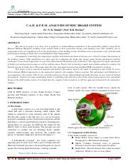 C.A.D. & F.E.M. ANALYSIS OF DISC BRAKE SYSTEM.pdf