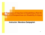 lec 2 jan 16-Overview of injuries & Disabilities (Part II)-