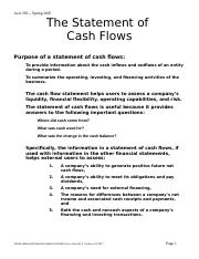 CashFlow with solutions best