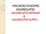 Aggregate Demand and Supply (Assignment)