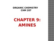 Chapter 9-Amines