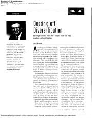 page from Diversification