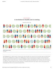 A revolution in health care is coming - Data and medicine.pdf