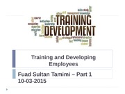 Training and Developing-Fuad