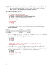 Final Exam Review Practice SOLUTION(1)